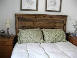 ana white first project reclaimed wood look queen headboard