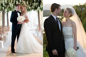 chelsea clinton wedding dress here s how ivanka s and chelsea clinton s weddings stack up