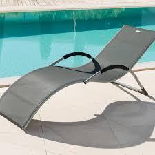 chaise longue hesperide transat california ardoise hespéride