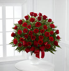 cranford florist and gifts u0027s tribute red floor basket arrangement