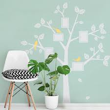 Tree Wall Decal For Nursery Family Tree Decal Vinyl Birds Stickers Photos Tree Wall