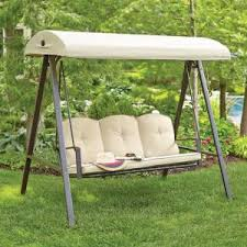 Patio Swing Folds Into Bed 3 Person Futon Patio Swing S010047 The Home Depot