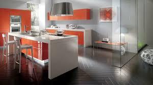 cuisine orange et gris déco cuisine orange blanc exemples d aménagements