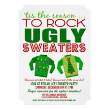 sweater invitations zazzle