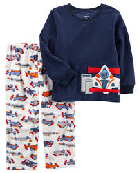 Sweater Pajamas 2 Race Car Fleece Pjs Carters
