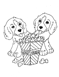 free printable dog coloring pages for kids in cute itgod me