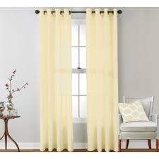 Yellow Brown Curtains Modern Ivory U0026 Cream Curtains Drapes Allmodern