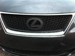 lexus is300 front grill emblem new front grille on my is350 what do you think clublexus