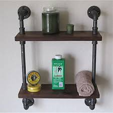 Wrought Iron Bathroom Furniture Vintage Wrought Iron Pipe Tier Metal Bathroom Shelf Para