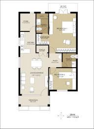 2bhk residential modern house floor plan 3d 2 bhk images
