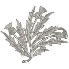 scottish silver thistles brooch shetland jewellery hsh050 b32