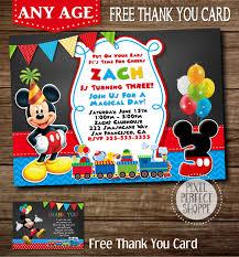 mickey mouse birthday invitations free printable invitation design