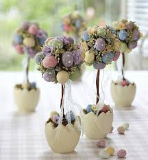 Beautiful Easter Decorations With Eggs And Bunnies