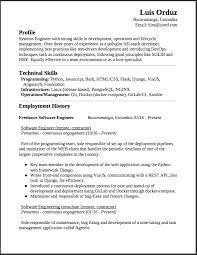 Best Resume For Experienced Software Engineer by Freelance Software Engineer Resume This Is A Summary Of My