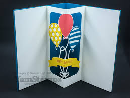 easy pop up birthday card yamstamps com linda u0027s stamping blog