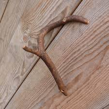 wooden tree branch hook rustic home decor branch wall hook