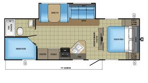 Bunkhouse Rv Floor Plans by 2017 Jayco Jay Feather 25bh Model
