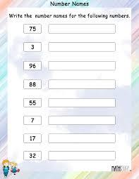 naming numbers u2013 grade 1 math worksheets page 2
