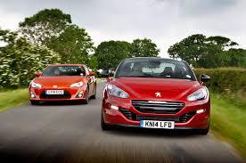 peugeot rcz r performance coupe special toyota gt86 versus peugeot rcz r autocar