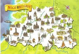 Beer Map Swisscowgirl U0027s Postcards Belgium