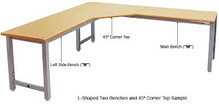 table l l u shaped tables benchdepot pertaining to new property table
