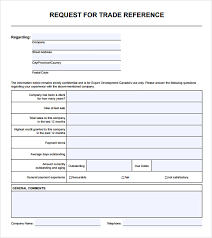 Sample Resume Reference Page by Sample Trade Reference 5 Documents In Pdf
