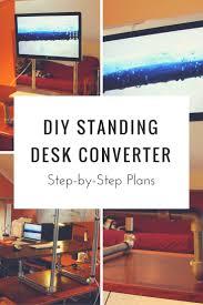 Sit To Stand Desk Converter by Diy Sit Stand Desk Converter Best Home Furniture Decoration
