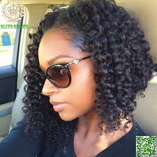 curl in front of hair pic short kinky curly virgin chinese human hair full lace wig glueless