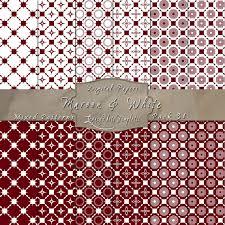 Mixed Patterns by Maroon U0026 White Mixed Pattern Paper Set