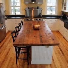 kitchen island wood countertop reclaimed white pine kitchen island counter transitional modern wood