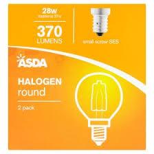 asda 28w ses halogen round light bulbs asda groceries