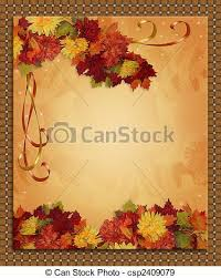 stock illustration of thanksgiving autumn fall border image and