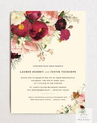 botanist study iv wedding invitation u0026 rsvp card set with