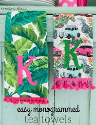 easy customized hostess gifts monogrammed tea towels u2014 kingston