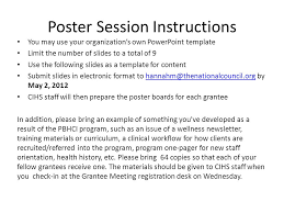 poster session instructions you may use your organization u0027s own