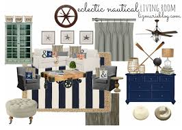 eclectic nautical living room living rooms room and house
