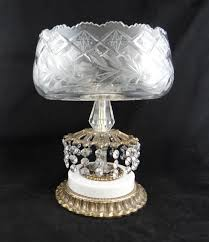 mid century hanging l l l wmc mid century cut glass compote centerpiece console bowl on