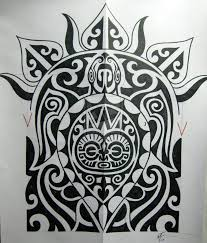 polinesian turtle tattoo maori design 824x968 pixel maori