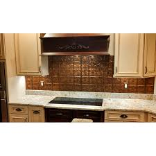 Kitchen Backsplash Panel by Interior Backsplash Panel Kit In Copper Brushed Bronze By