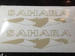 jeep wrangler sahara logo product x2 jeep sahara decal sticker vinyl stock color wrangler