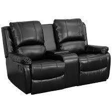 Loveseat Recliner With Console Amazon Com Flash Furniture Allure Series 2 Seat Reclining Pillow