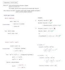 Double Facts Worksheets Worksheet Trig Identities Worksheet Mifirental Free Printables