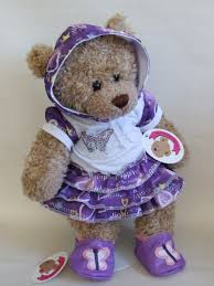 teddy clothes clothes purple butterfly dress shoes