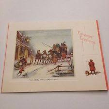 vintage greeting card christmas deco the royal mail coach 1830