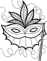 ethnic mardi gras mask coloring ethnic mardi gras mask