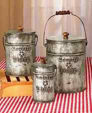 rustic canisters ebay