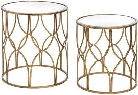 side table set of 2 buy hill interiors gold detail lattice side table set of 2 online