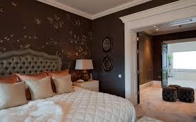 Schlafzimmer Wand Modernes Schlafzimmer Wand Dekorieren Tapete Braun Creme Tropfen