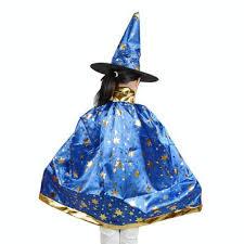boy girl kids children halloween costumes witch wizard cloak gown