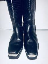 womens boots made in spain buckle block heel leather cowboy boots for ebay